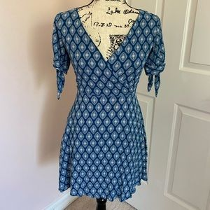 Blue Sleeve Dress- Only worn once